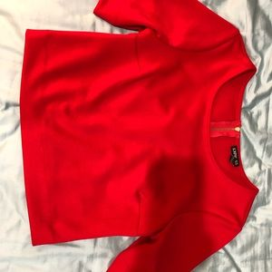 Express red crop top size xsmall half sleeve
